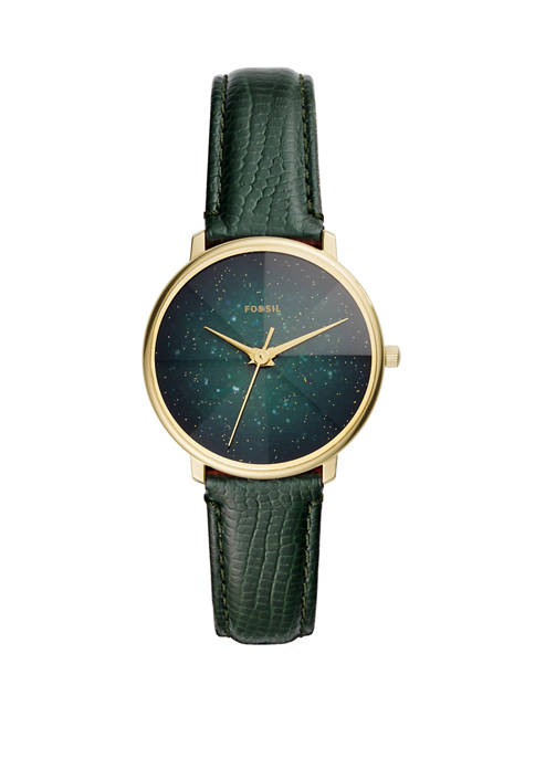Fossil® Womens Prismatic Galaxy 3 Hand Green Leather