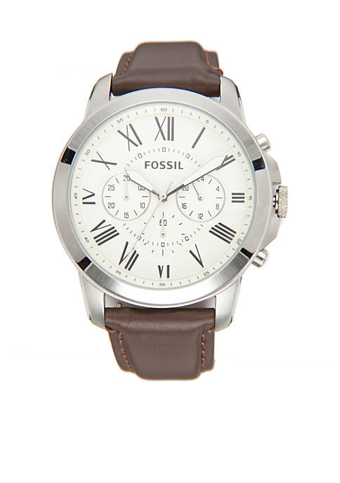 Large Round Silver Watch