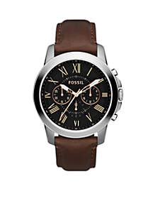 Men's Grant Brown Leather Watch