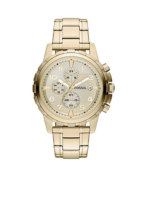 Fossil® Mens Gold Tone Chronograph Dean Watch