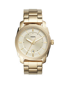 Fossil® Men's Machine Three-Hand Date Gold-Tone Stainless Steel Watch
