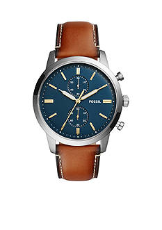 Fossil® Men's Townsman 44mm Chronograph Leather Watch