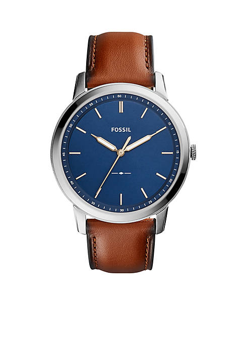 Fossil® The Minimalist Three-Hand Leather Watch