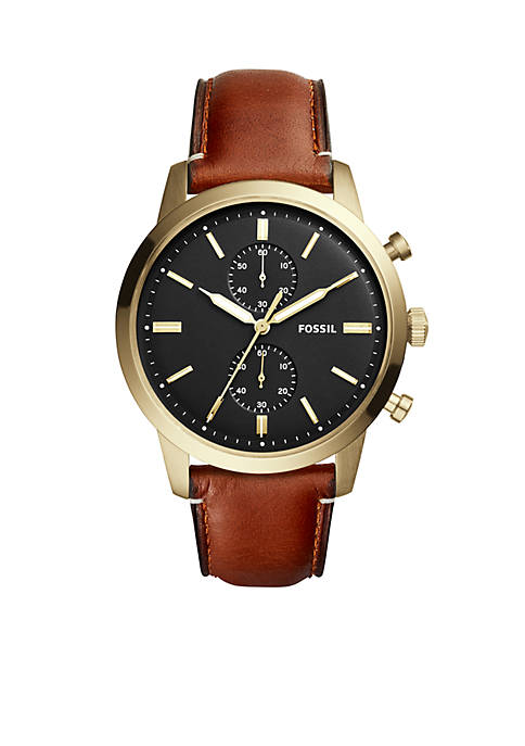 Fossil® Townsman Chronograph Leather Watch