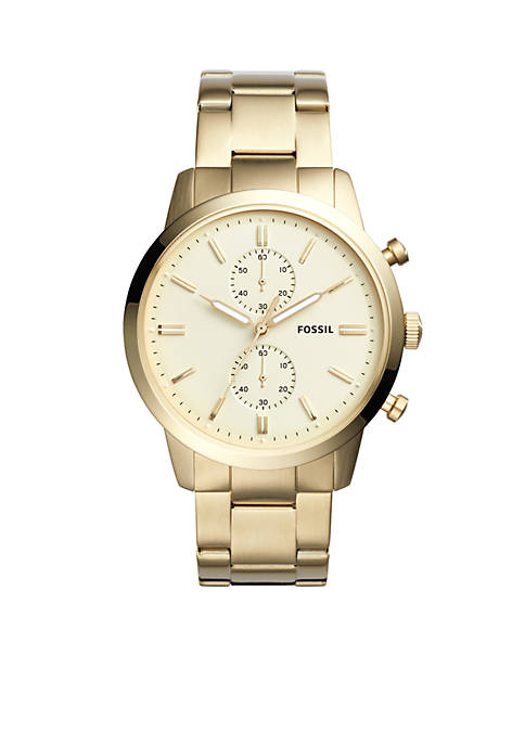 Fossil® Gold-Tone Stainless Steel Townsman Chronograph Watch