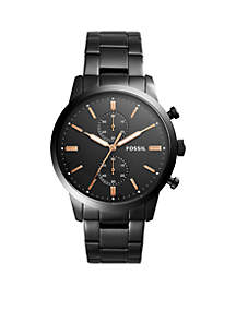 Black Stainless Steel Townsman Chronograph Watch