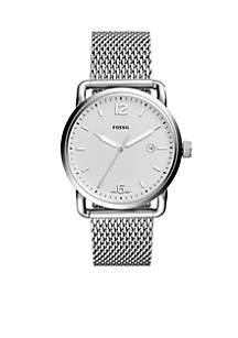 Men's Commuter Three-Hand Date Stainless Steel Watch