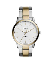 Two-Tone Stainless Steel The Minimalist Three-Hand Steel Watch
