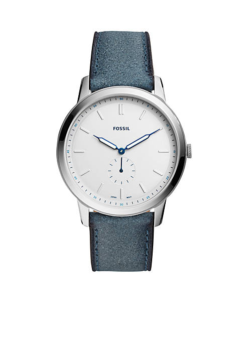 Fossil® Stainless Steel The Minimalist Two-Hand Leather Strap