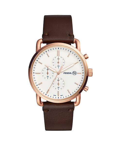 Fossil® Mens Gold Tone Stainless Steel Commuter Chronograph