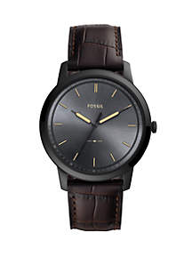 Fossil® Men's The Minimalist Three-Hand Brown Leather Watch