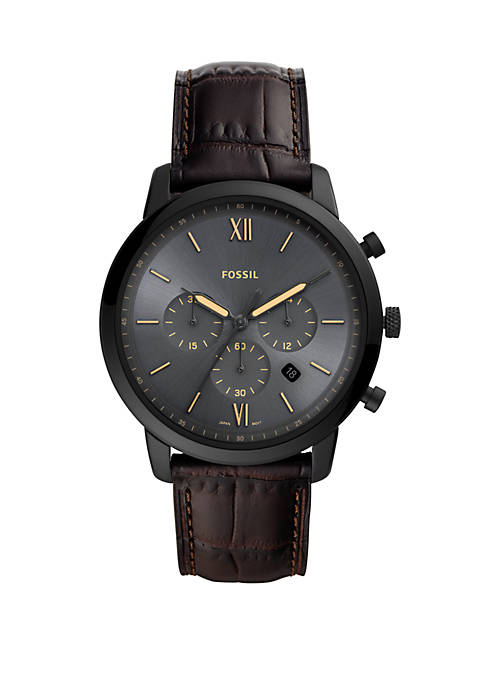 Fossil® Mens Neutra Chronograph Brown Leather Watch