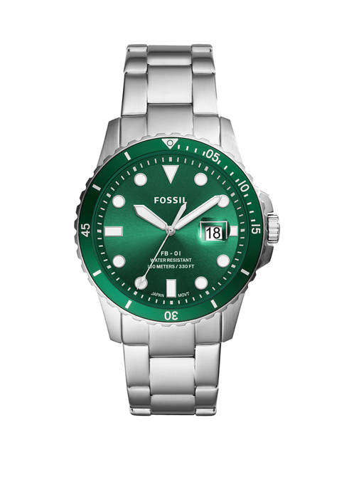 Fossil® Silver Link Watch