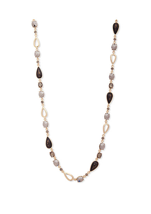 Gold-Tone Jeweled Necklace