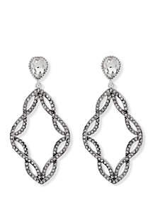 Weave Post Chandelier Earrings