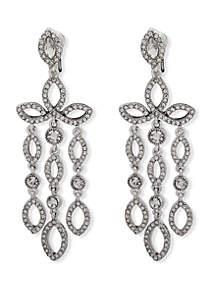 Pave Crystal Chandelier Earrings
