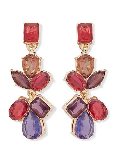 Anne Klein Gold Tone Crystal Cluster EZ Comfort