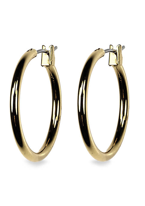 Anne Klein Gold-Tone Hoop Earrings