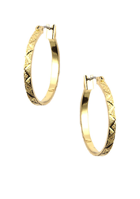 Anne Klein Small Gold Hoop Earrings