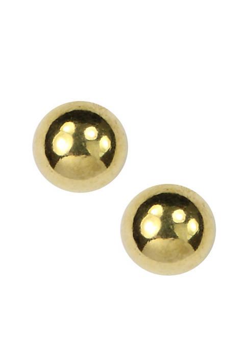 Gold-Tone Ball Stud Earring