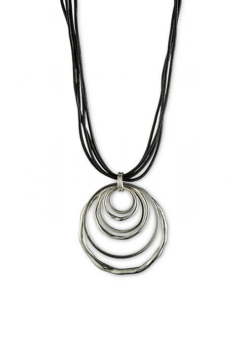 Anne Klein Silver-Tone Orbital Pendant