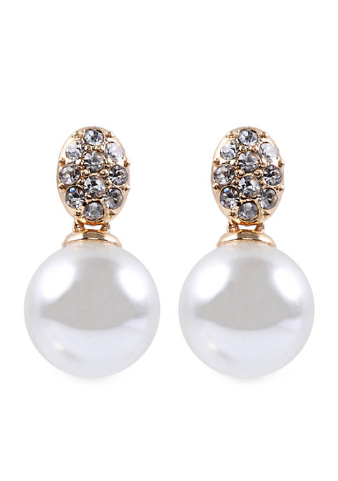 Anne Klein Pearl Drop Post Earrings