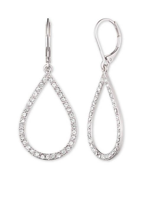 Anne Klein Crystal Teardrop Earrings