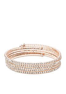 Rose Gold-Tone Coil Bracelet