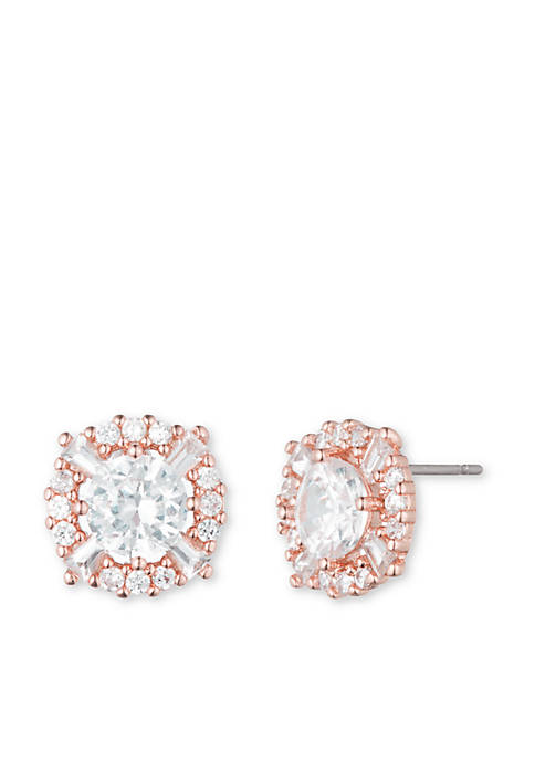 Anne Klein Rose Gold-Tone Stud Earrings