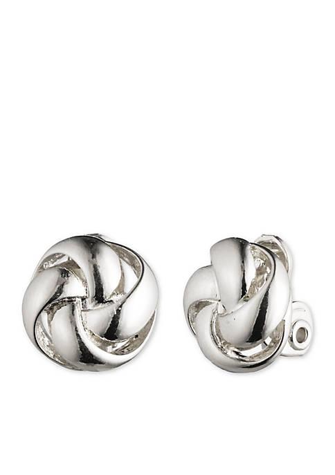 Anne Klein Knot Clip Earrings
