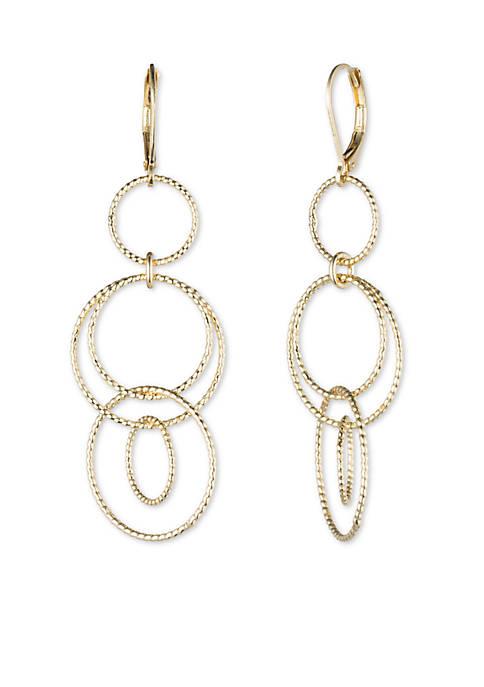 Anne Klein Circle Drop Earrings