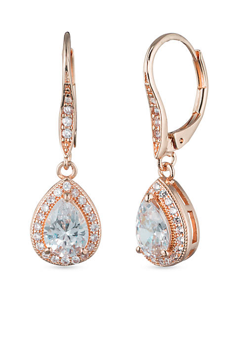 Anne Klein Crystal Pear Drop Earrings