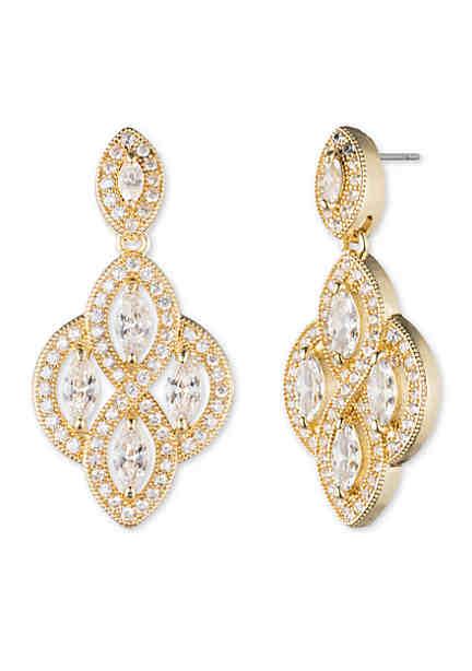 Chandelier earrings belk anne klein gold tone crystal chandelier earrings aloadofball Image collections