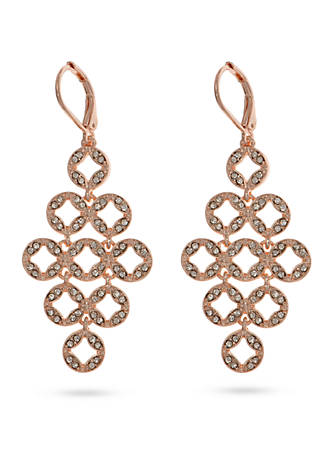 Anne klein rose gold tone stone chandelier earrings belk anne klein rose gold tone stone chandelier earrings aloadofball Image collections