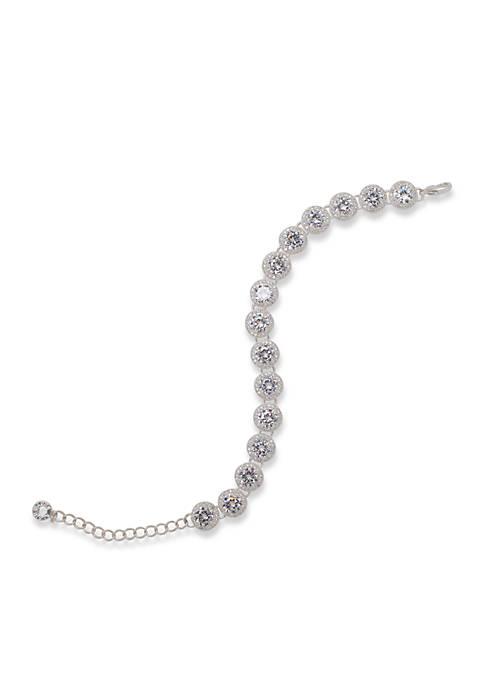 Anne Klein Silver-Tone Stone Bracelet