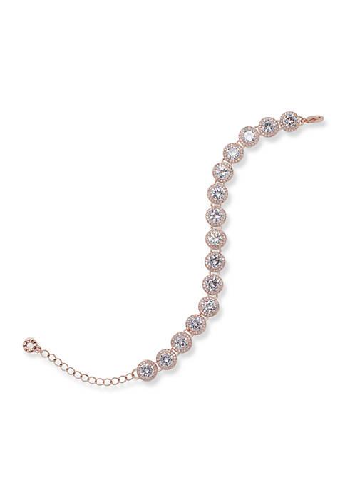 Anne Klein Rose Gold-Tone Stone Bracelet