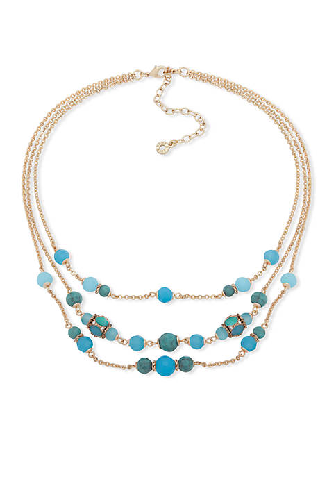 Gold-Tone Frontal Illusion Necklace