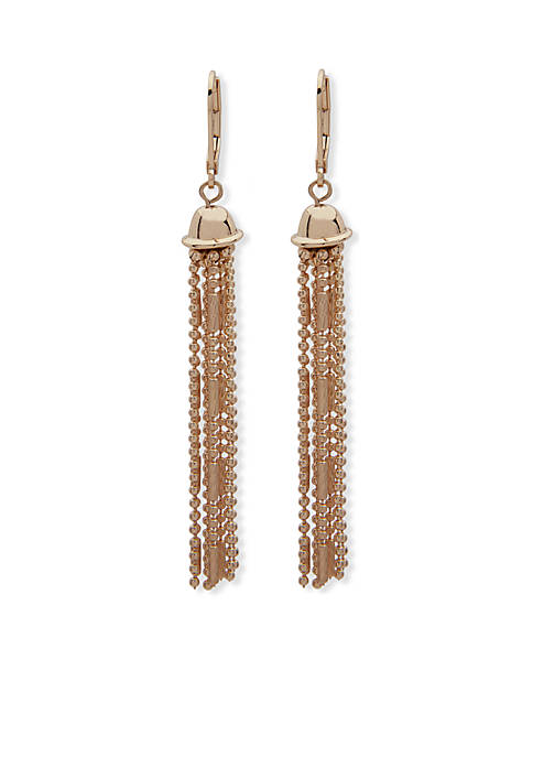 Anne Klein Gold-Tone Linear Earrings