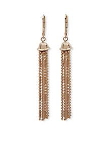 Gold-Tone Linear Earrings
