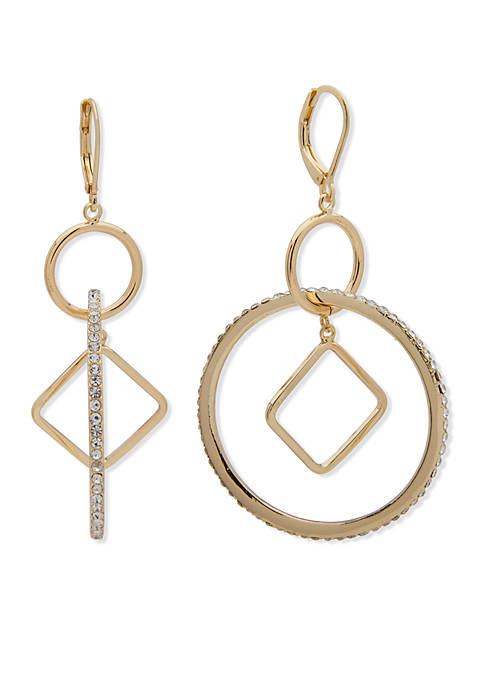 Anne Klein Gold-Tone Orbital Earrings