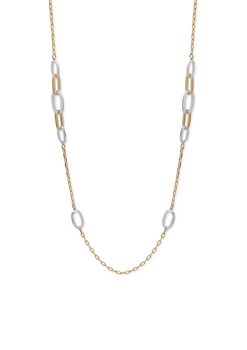 Anne Klein Gold-Tone Link Strand Necklace