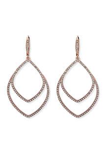 Pave Orbital Rigid Earrings