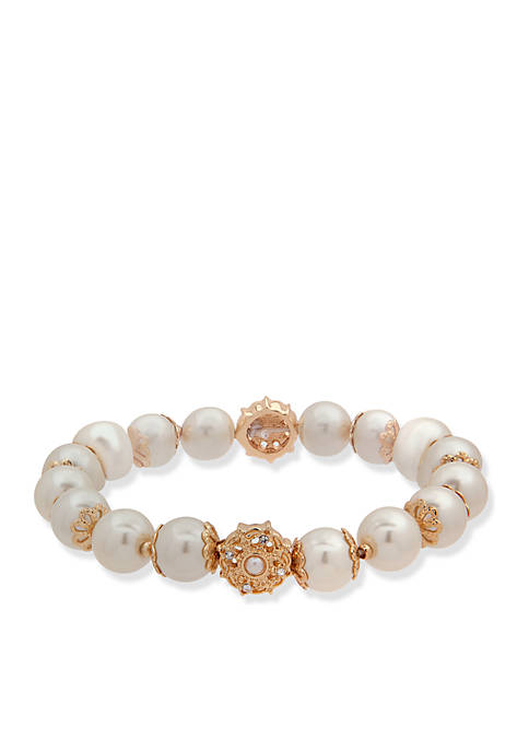 Anne Klein Pearl Stretch Bracelet
