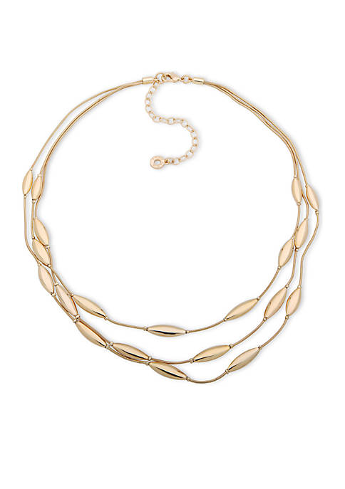 Anne Klein Gold-Tone Illusion Necklace