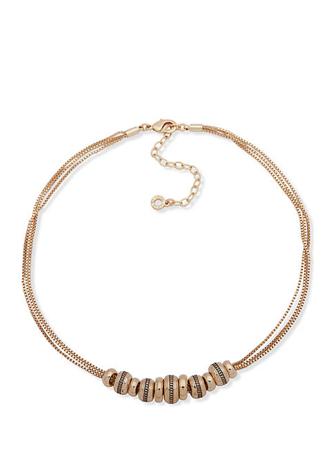 Gold-Tone Rondell Frontal Necklace