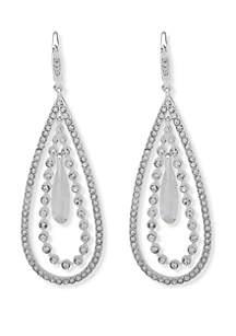Anne Klein Large Orbital Drop Earrings