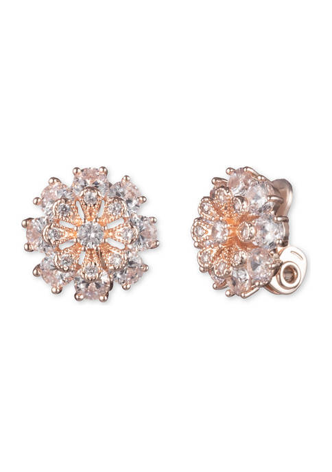 Anne Klein Rose Gold Tone Crystal Cubic Zirconia