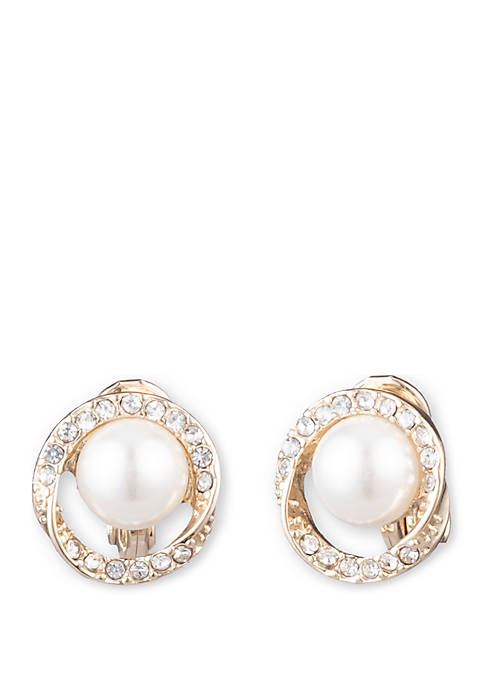 Anne Klein Gold Tone and White Pearl with