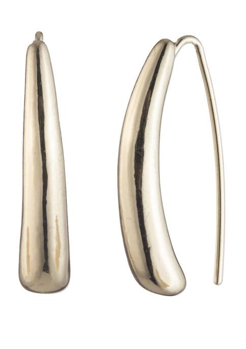 Gold Tone Metal Threader Earrings
