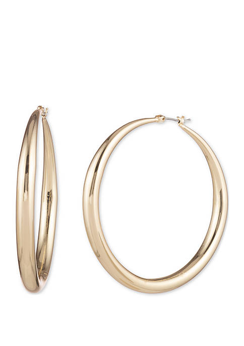 Anne Klein Gold Tone Extra Large Tapered Hoop